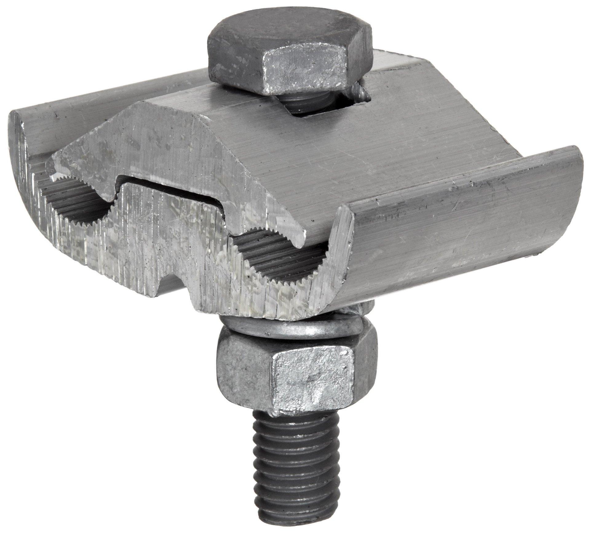 Morris Products 96028 Parallel Groove Clamp, 1 Bolt, Aluminum, 397.5 - 400 CU-AL Main, .728 - .740'' Wire Diameter Main; 397.5 - 400 CU-AL Tap, .728 - .740''