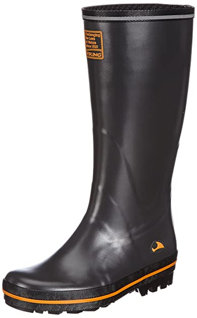 Viking Tracker, Unisex-Erwachsene Langschaft Gummistiefel, Grau (Antracit/Multi 7750), 39 EU