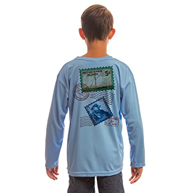 2e49809c5e07d8 Stamps BVI Youth UPF 50+ UV/Sun Protection Long Sleeve T-Shirt: Clothing
