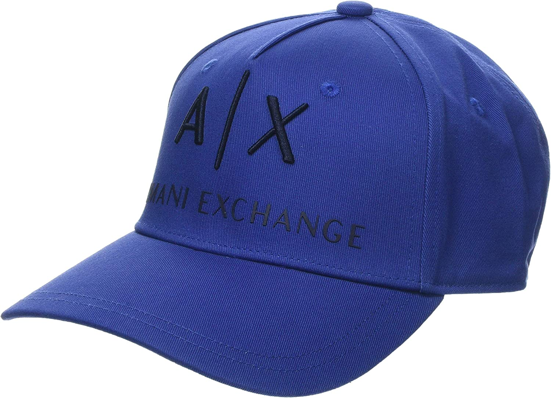 Armani Exchange Logo Baseball Hat Gorra de béisbol, Azul (Blue ...