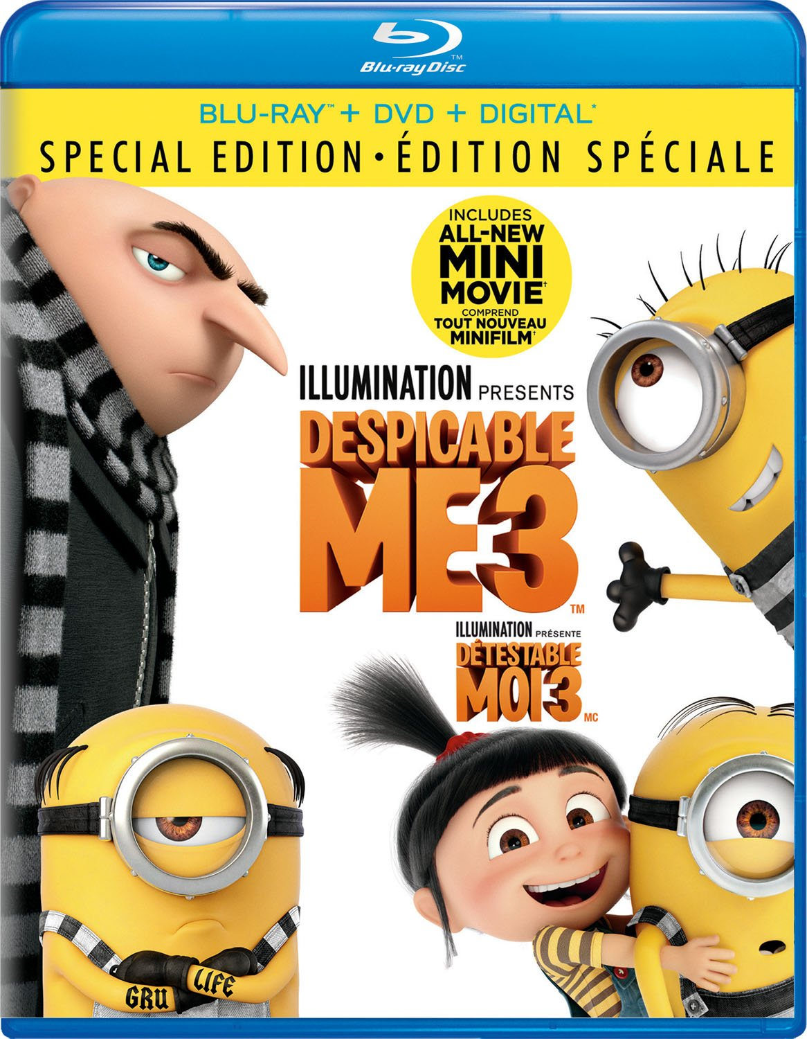 Despicable Me 3 [Blu-ray + DVD + Digital HD] (Sous-titres...
