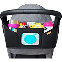 liuliuby Stroller Organizer - Large Storage Space with Easy Access Wipe Pocket and Customizable Compartments - Universal…