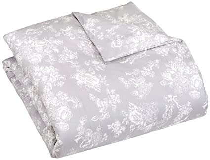 Pinzon 170 Gram Flannel Duvet Cover U2013 Twin, Floral Grey