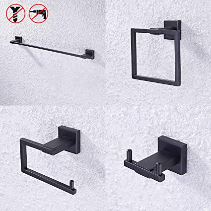 Mttuzk 304 Stainless Steel Brushed Gold Robe Hook Matt Black Bathroom Hooks Wall Mount Door Rear Hook For Cap,coat,clothes Rich And Magnificent Robe Hooks