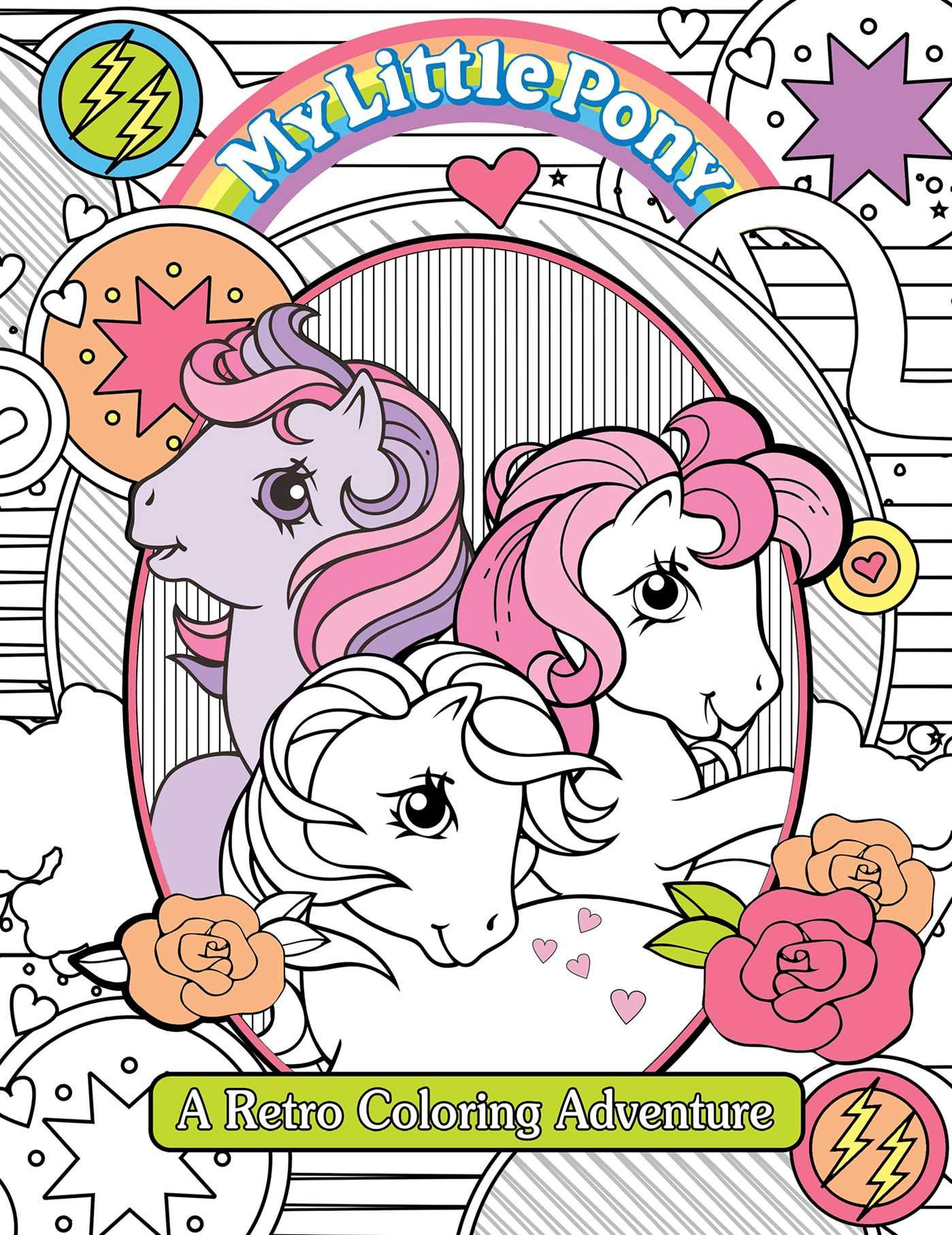 Little Pony Retro Coloring Book product image