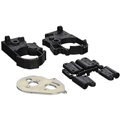RPM Hybrid Gearbox Housing and Rear Mounts for Traxxas 2WD Electric, Black: Toys & Games