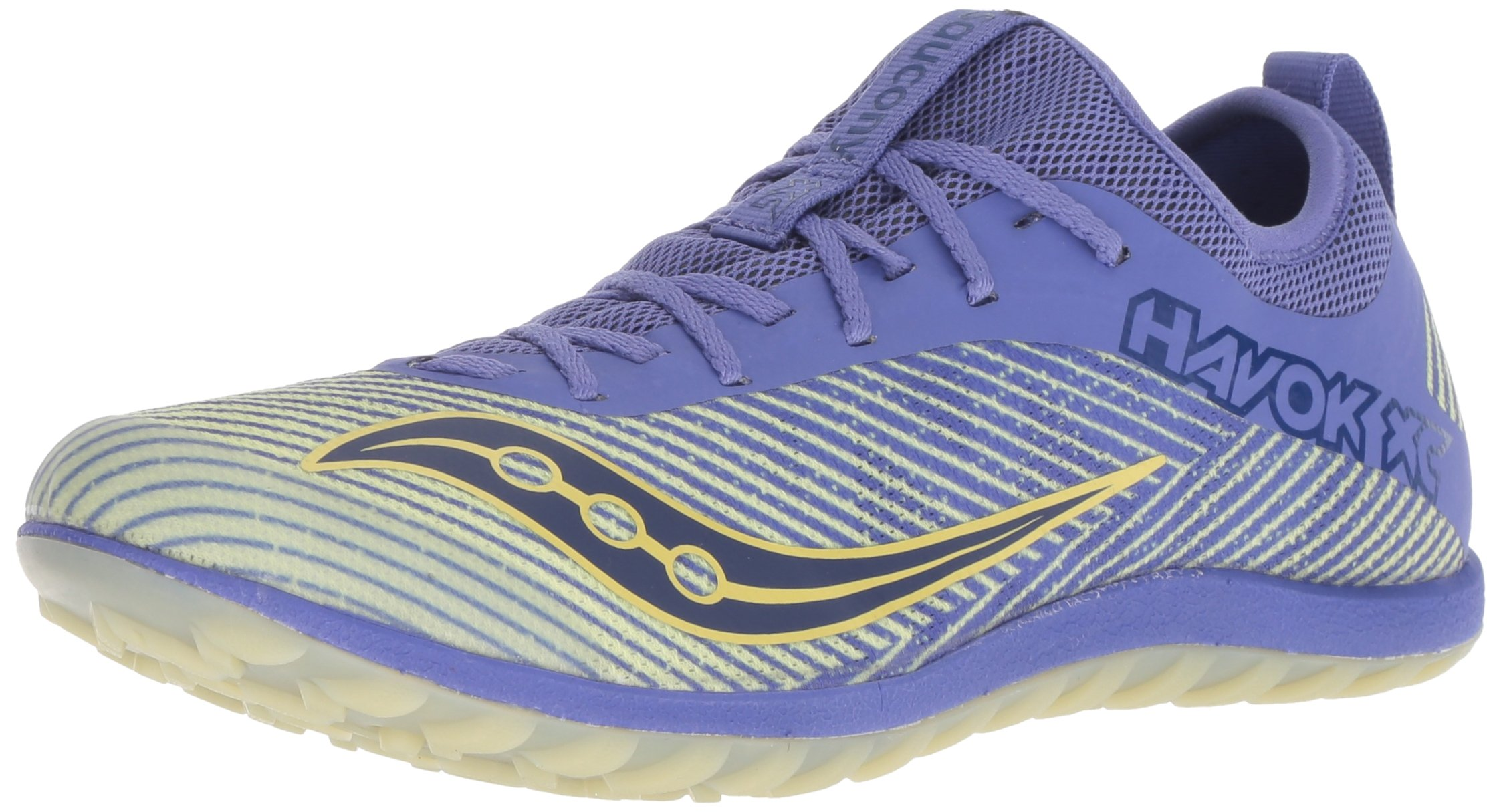 Saucony Women's Havok XC2 Flat Track Shoe, Purple/Yellow, 6 M US