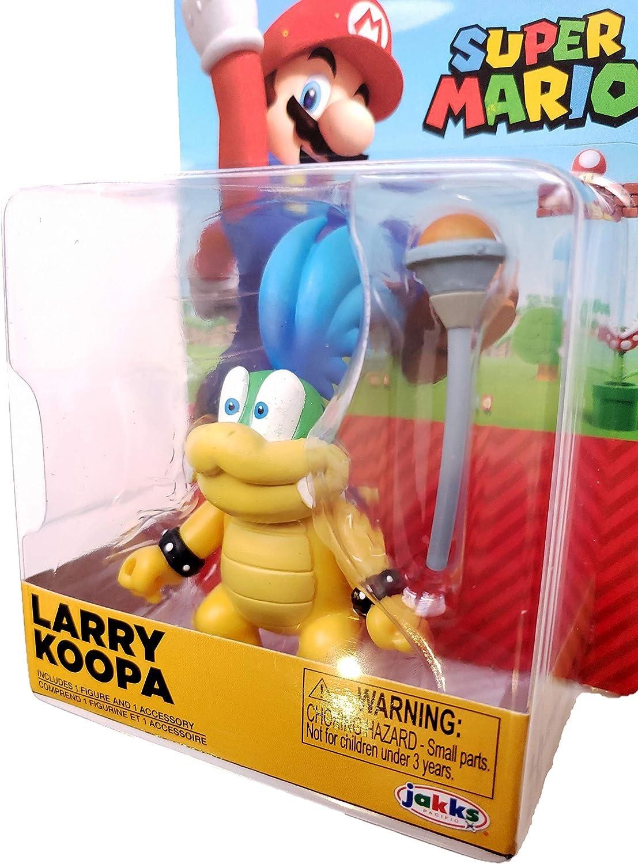 Super Mario Larry Koopa 2.5 Figure with Accessory Jakks-Pacific