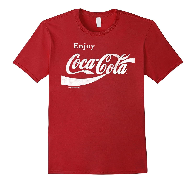 Coca-Cola Retro Vintage Ribbon Enjoy Logo Graphic T-Shirt-T-Shirt