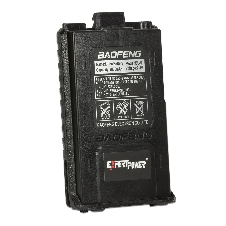 expertpower baofeng standard battery model bl 5