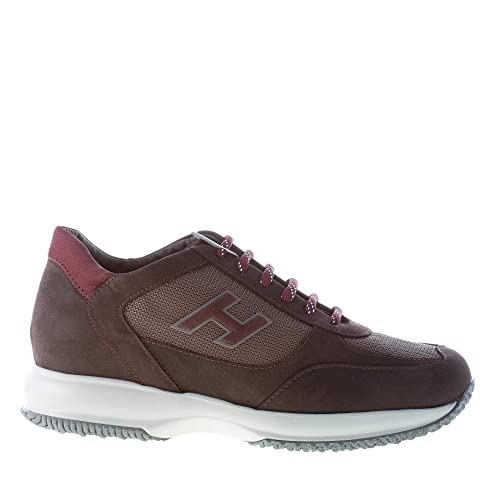 Hogan Uomo Interactive Sneaker in Nabuk e Tessuto Tecnico Marrone Color  Marrone Size 44.5 EU ( 89016b88e0a