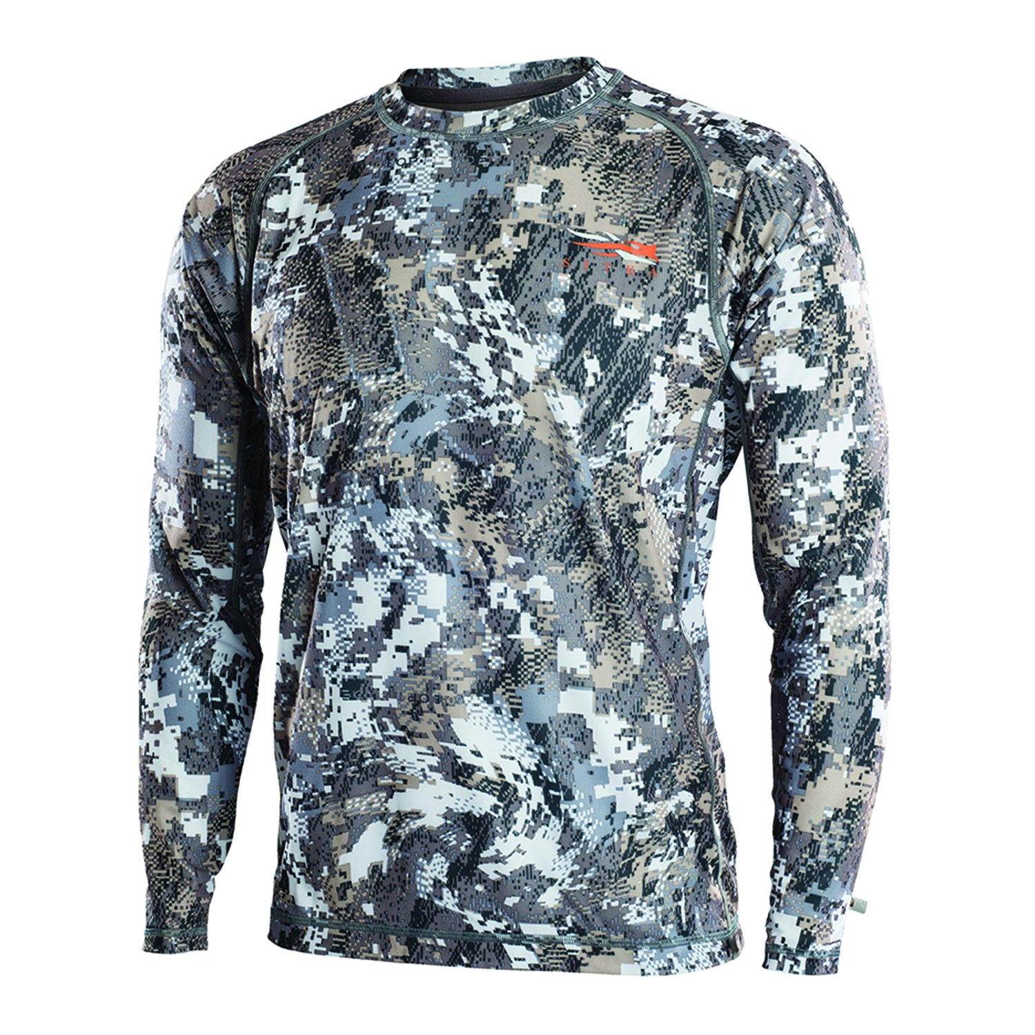 SITKA Gear Core Light Weight Crew - Long Sleeve Optifade Elevated II Large by SITKA (Image #1)