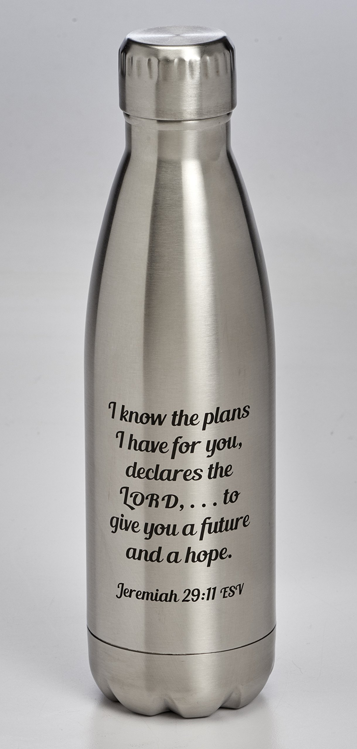 Know the Plans 17 Ounce Double Wall Stainless Steel Water Bottle with Screw Top Lid