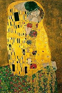 Gustav Klimt The Kiss 1908 Austrian Symbolist Painter Golden Period Art Nouveau Print Poster - 24x36 inch