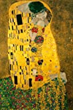 Gustav Klimt The Kiss 1908 Austrian Symbolist Painter Golden Period Art Nouveau Print Cool Wall Decor Art Print Poster…