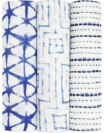 Aden + Anais - Bañador de bambú maxi, color azul