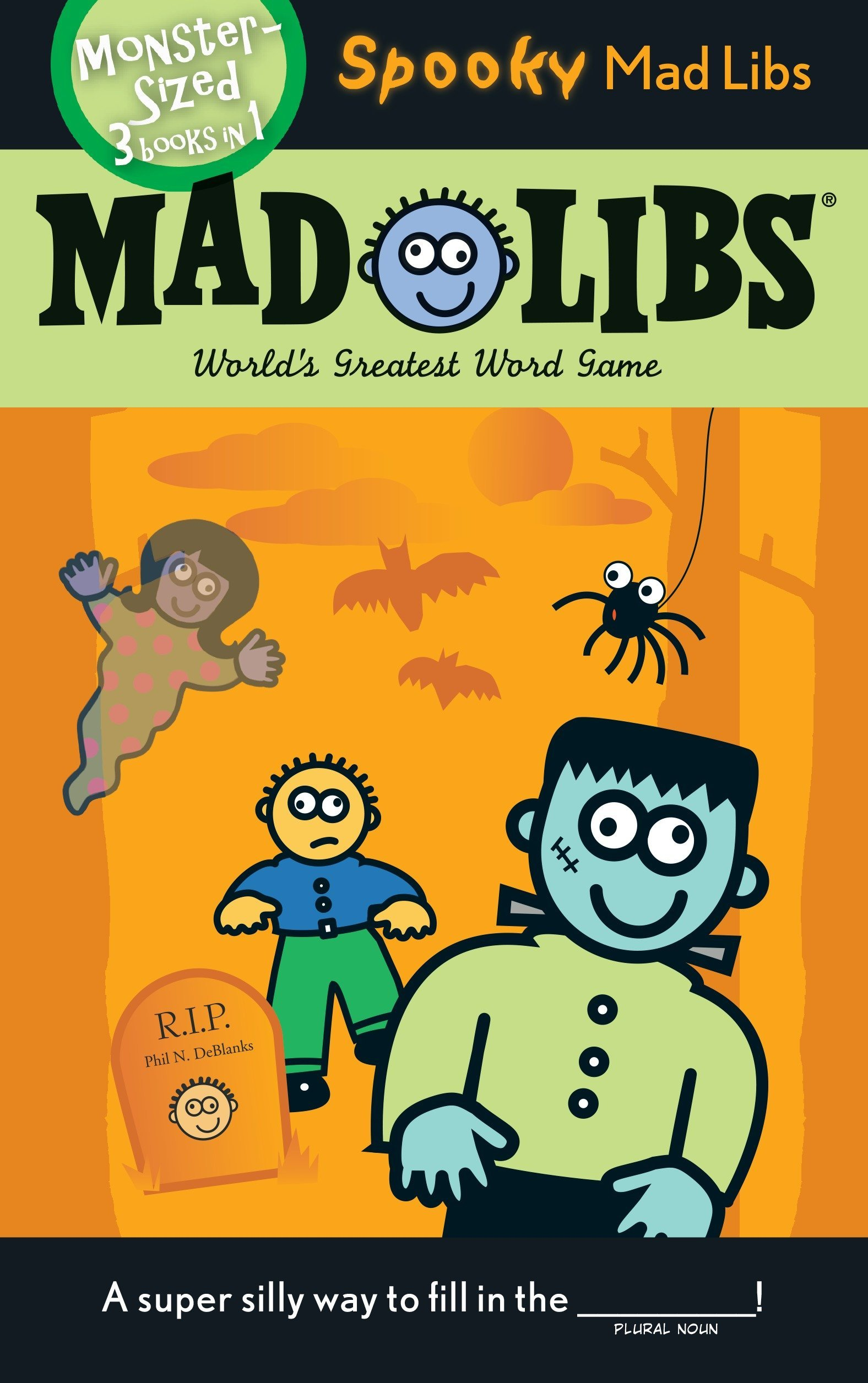photograph about Halloween Mad Libs Printable Free named Spooky Crazy Libs: Roger Price tag, Leonard Stern: 9780843120363