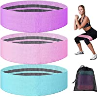 Lsnisni Resistance Bands for Leg and Butt- 3 Pack Non Slip Fabric Resistance Bands for Working Out, Yoga Booty Loops…