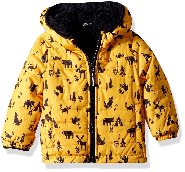 London Fog Boys' Reversible Fleece to Poly Jacket