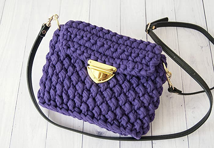 Amazoncom Purple Crossbody Bag For Women Crochet Bag Designer