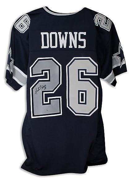 3792fd6c386 Michael Downs Dallas Cowboys Autographed Navy Blue Jersey -APE COA ...