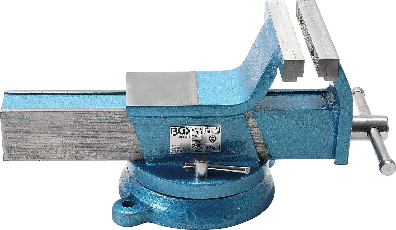 Stahl-Schraubstock geschmiedet 125 mm Backen BGS 59112