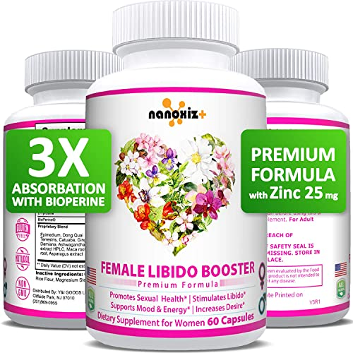 Female Immunity Wellness Enhancement Supplement Pills with Maca Root, Horny Goat Weed, Dong Quai to Boost Vitality, Performance, Stamina, Passion Drive, Energy, Mood – Made in USA