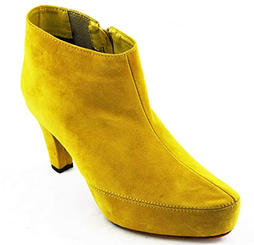 B.C. Best Connections Andrea Conti Botas Botines 1006525 piel High Heel Amarillo 2025, color Amarillo, talla 37: Amazon.es: Zapatos y complementos
