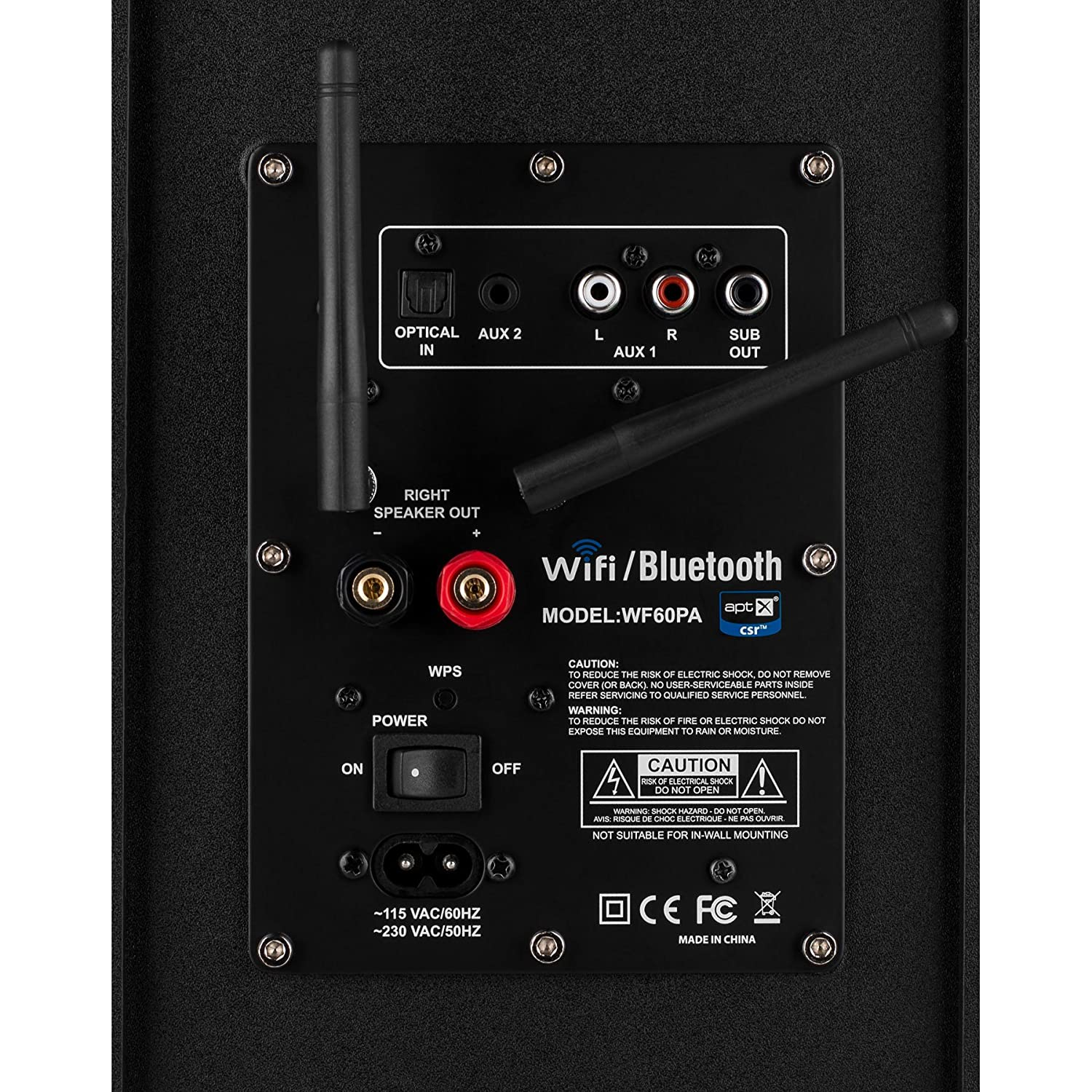 Dayton Audio WF60PA 60W Class D Full Range 2.1 Plate Amplifier with Wi-Fi and Bluetooth 4.0 aptX: Amazon.es: Electrónica