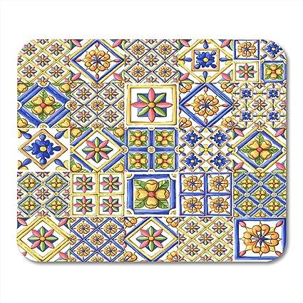 Alfombrilla de ratón Adornos de azulejos Azulejos Acuarela España ...