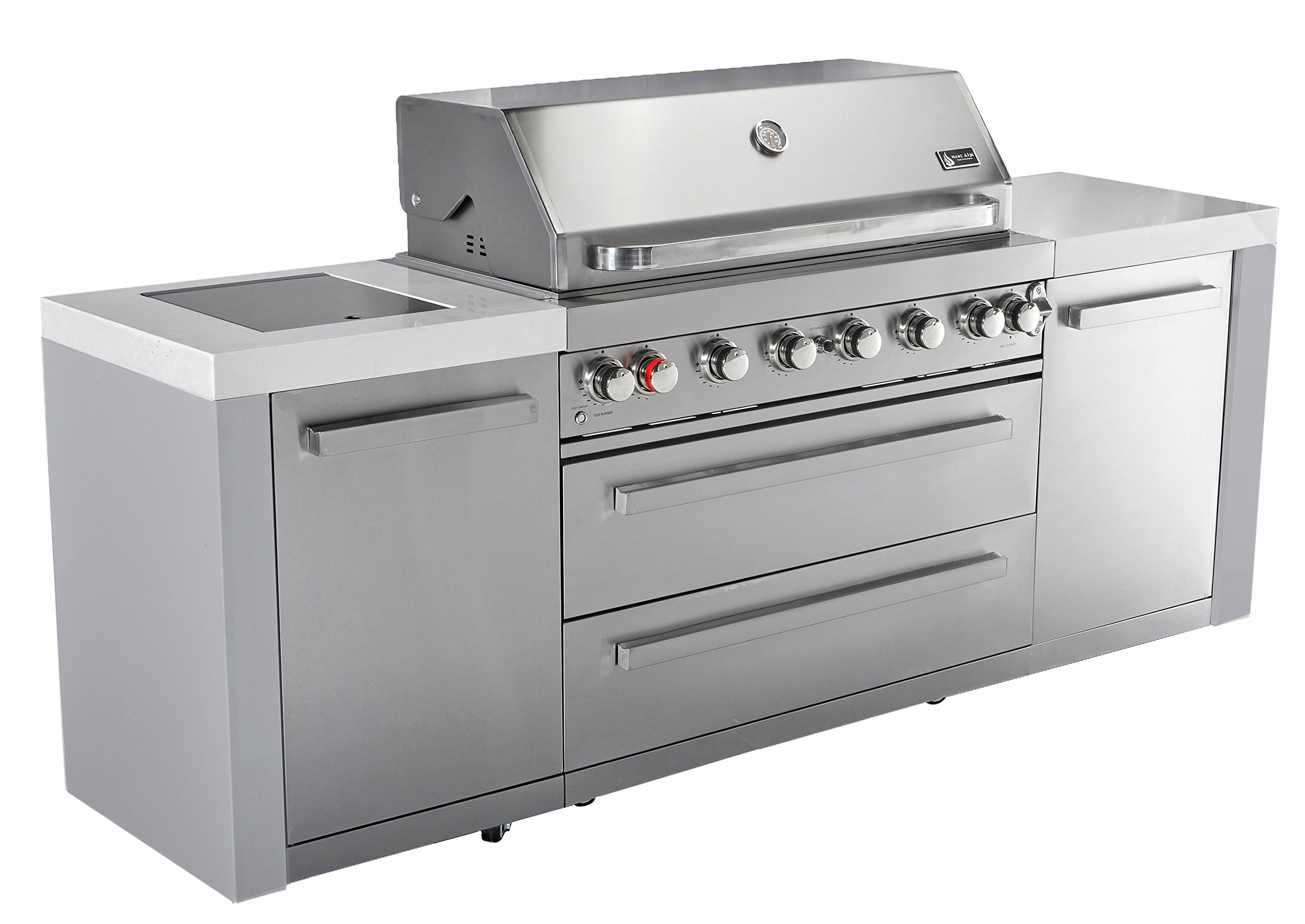 Mont Alpi MAI805 44'' Outdoor Barbeque Island, 47.00 x 20.00 x 93.00 inches, Stainless Steel by Mont Alpi (Image #4)