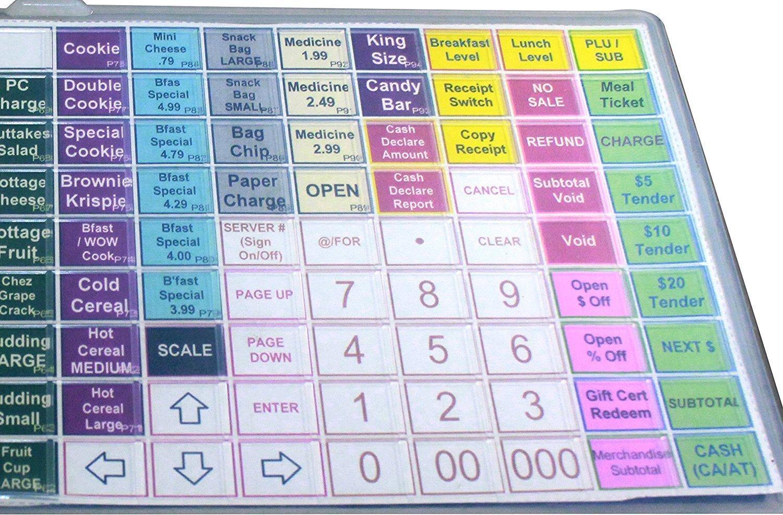 SAM4s ER 5200 m - Flat Keyboard Cover / Silicone Skin ER 5200M ER-5200-m Cash Register ER5200m Protective WetCover By Point Of Sale Team Sam4s ER 5200m Keyboard cover