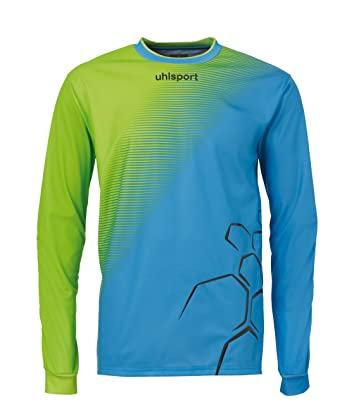 Uhlsport Camiseta de fútbol sala, tamaño S, color verde flash/cyan