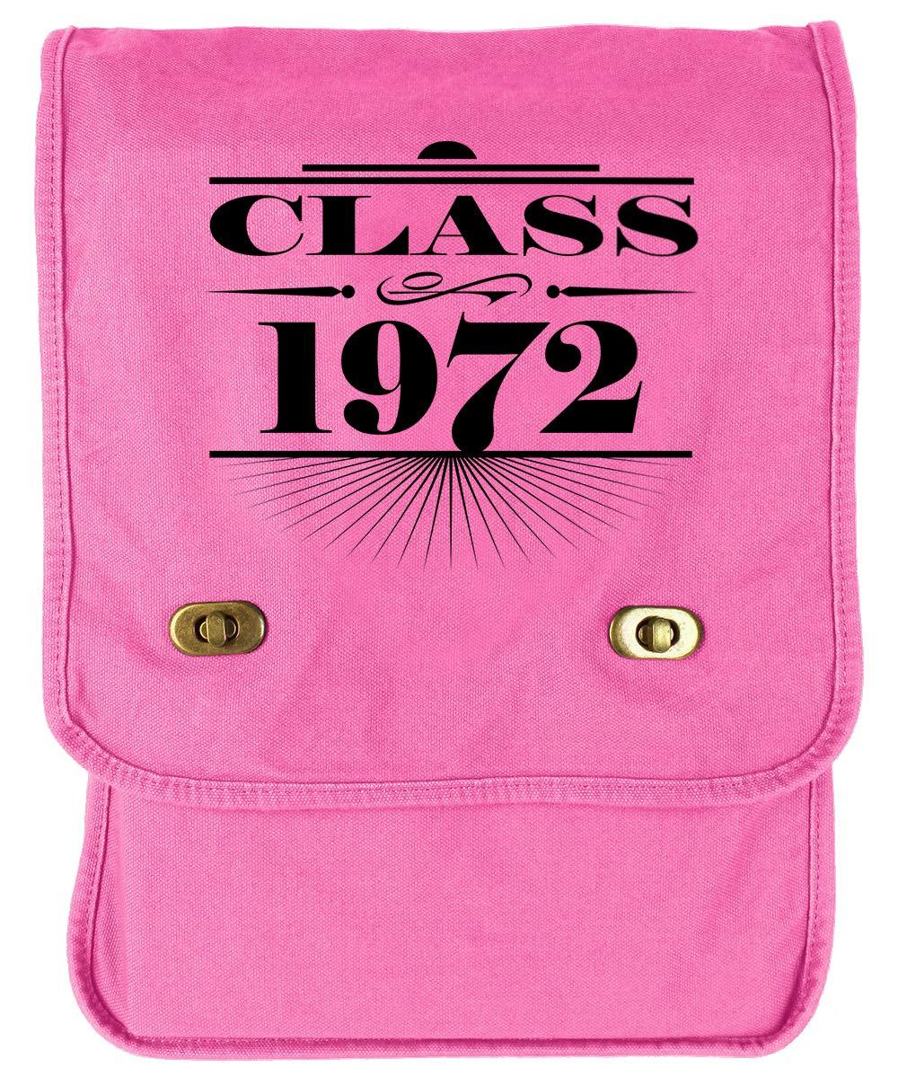 Tenacitee Art Deco Class of 1972 Flamingo Raw Edge Canvas Messenger Bag