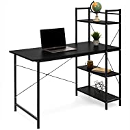 Best Choice Products Compact 4-Tier Shelves Computer Desk (Black)
