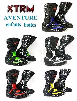 info pour 898d5 8b572 Amazon.fr : Moto Enfants Bottes XTRM Aventure Bottes d ...