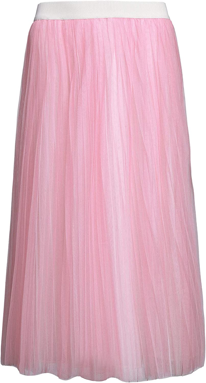 PYW Long Pleated Tulle...