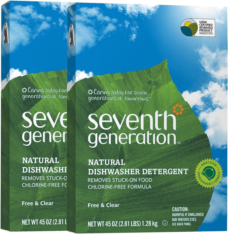 Seventh Generation Auto Dish Powder - 45 oz - 2 pk: Health & Personal Care