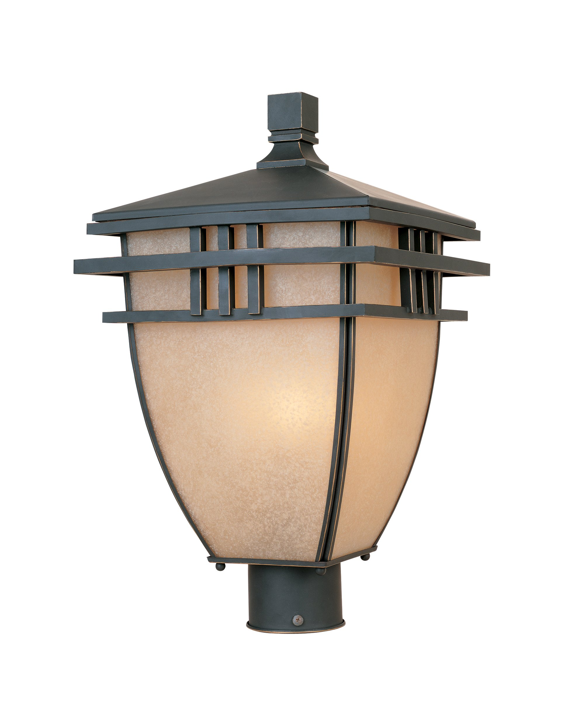 Designers Fountain 30836-ABP Dayton Post Lanterns, Aged Bronze Patina