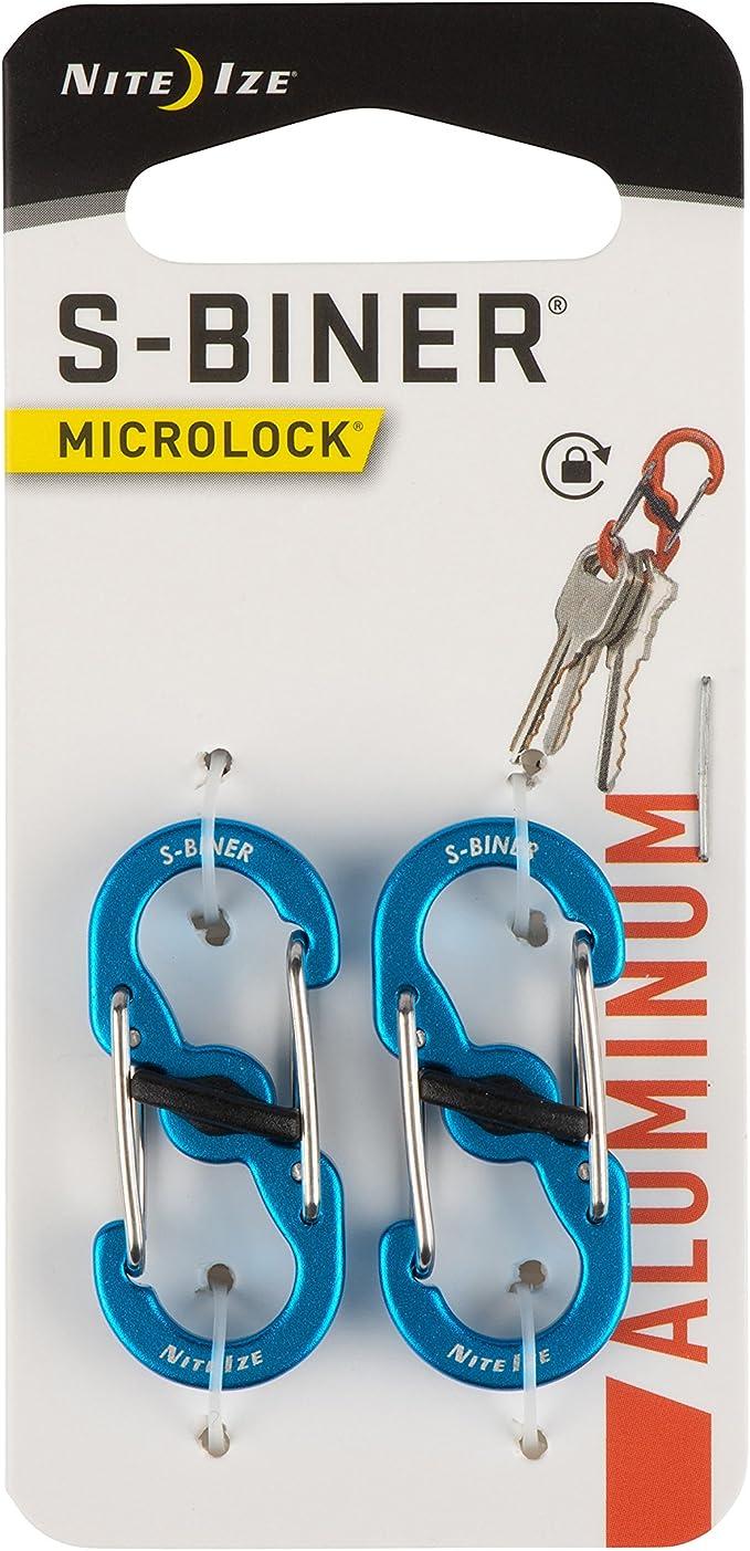 17-2R6 Nite Ize S-Biner Microlock Aluminium 2 Pack Vert Citron Double Gated lsbma
