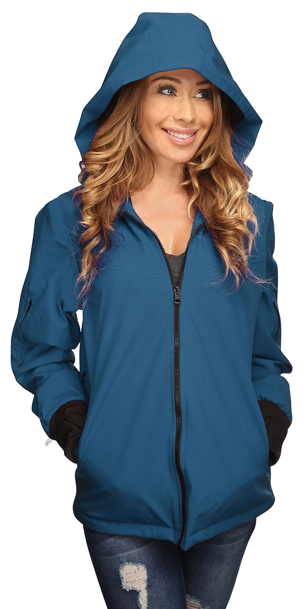 Joey Travel Jacket with Hidden Pockets. (Medium, Blue) by Global Travel Clothing