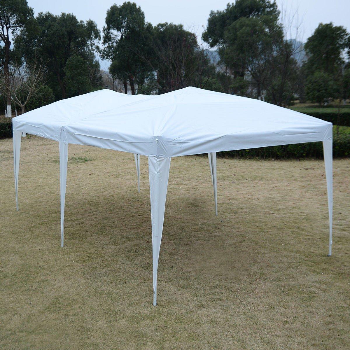 White 10'X20' EZ POP UP Gazebo Wedding Party Tent Folding Canopy Carry Bag Cross-Ba by Tamsun
