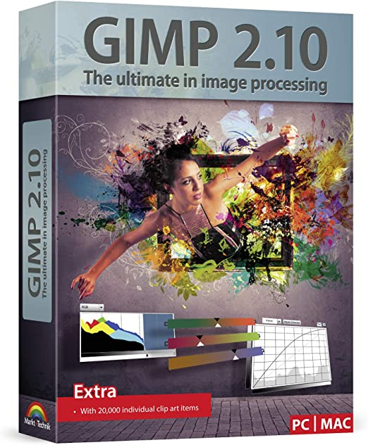 Amazon Com Gimp 2 10 Graphic Design Image Editing Software This Version Includes Additional Resources 20 000 Clip Arts Tech Support Instruction Manual For Windows 10 8 7 Vista Xp And Mac