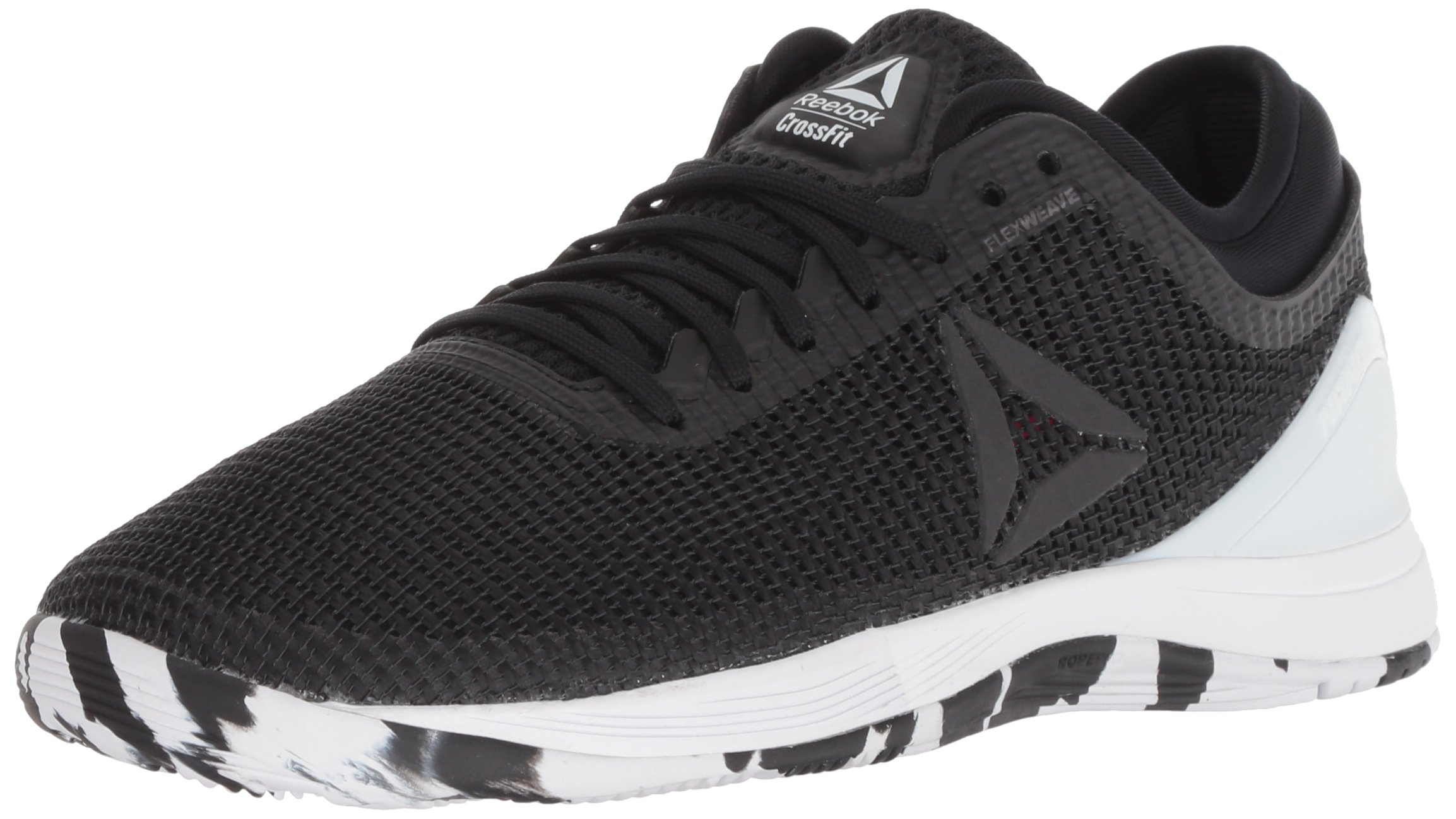 Reebok Women's CROSSFIT Nano 8.0 Flexweave Cross Trainer, Black/White/Twisted Pink, 5 M US by Reebok (Image #1)