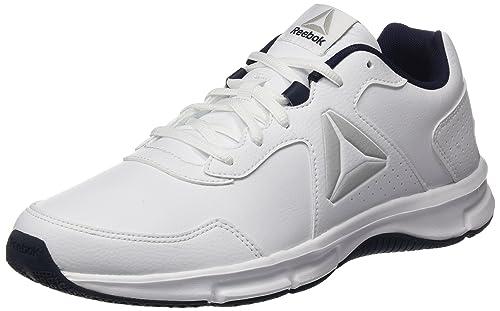 75a3a325fcdaa Reebok Men s Express Runner - SL Running Shoes White Collegiate Navy Steel