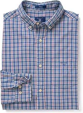 GANT Mens Campus Checked Shirt Blue in Size X-Large: Amazon.es: Ropa y accesorios