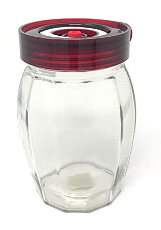 Fermentation Jar with One Way Air Release Valve Easy Open Wide Mouth Lid  and Silicone Seal – Ideal for Sauerkraut and Kimchi (1 2 Litre)
