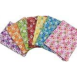 "Misscrafts 7pcs 19.7"" x 19.7"" TOP Cotton Blending Textile Craft Fabric Bundle Fat Quarter Squares Patchwork Lint DIY Sewing Scrapbooking Quilting Dot Floral Pattern Artcraft (Mixed Colour)"