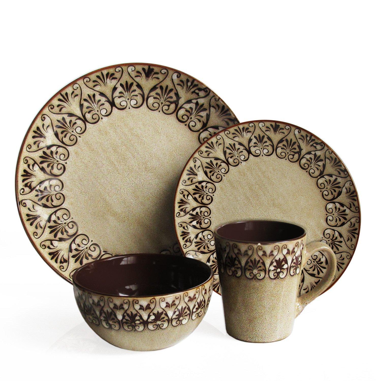 Amazon.com | American Atelier Mehndi 16-Piece Round Dinnerware Set Dinnerware Sets  sc 1 st  Amazon.com & Amazon.com | American Atelier Mehndi 16-Piece Round Dinnerware Set ...
