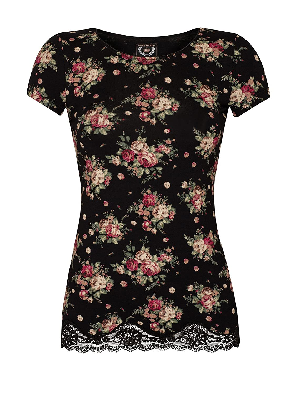 Vive Maria True Love Shirt schwarz Allover-Print